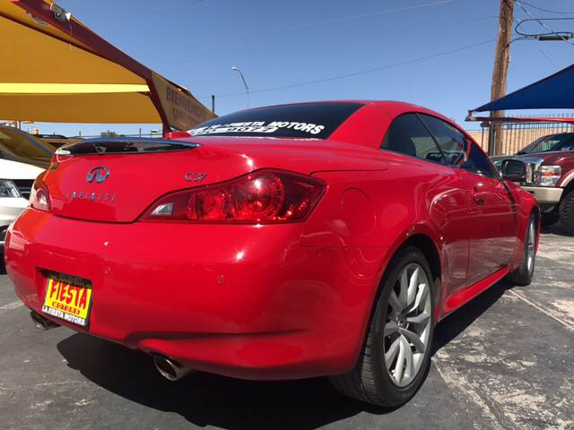 2011 infiniti g37 convertible limited edition 2dr for Fiesta motors el paso tx