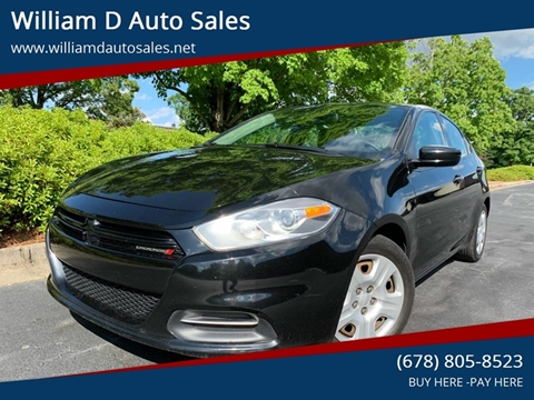 2015 Dodge Dart for sale at William D Auto Sales in Norcross GA
