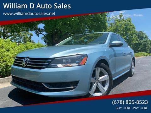 2012 Volkswagen Passat for sale at William D Auto Sales in Norcross GA