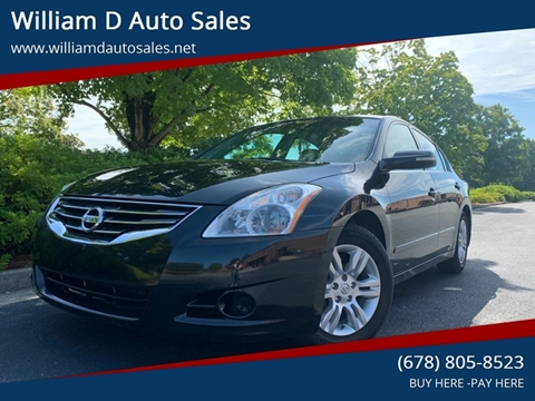 2012 Nissan Altima for sale at William D Auto Sales in Norcross GA