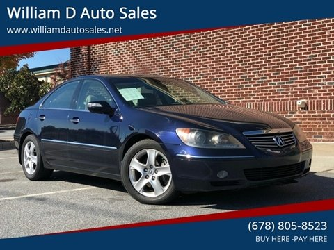 2008 Acura RL for sale at William D Auto Sales in Norcross GA