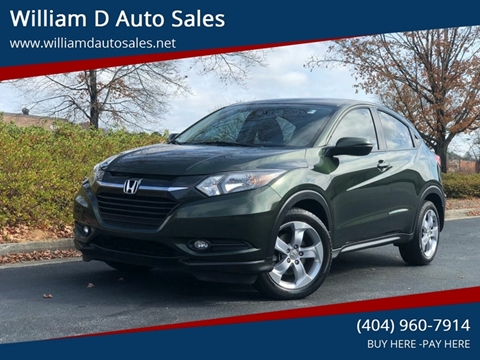 2016 Honda HR-V for sale at William D Auto Sales in Norcross GA