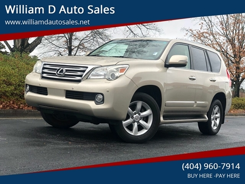 2010 Lexus GX 460 for sale at William D Auto Sales in Norcross GA
