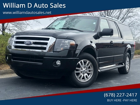 2012 Ford Expedition EL for sale at William D Auto Sales in Norcross GA