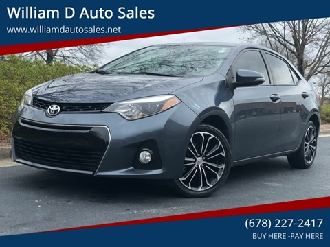 2015 Toyota Corolla for sale at William D Auto Sales in Norcross GA