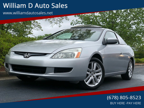 2005 Honda Accord for sale at William D Auto Sales in Norcross GA