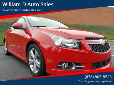 2012 Chevrolet Cruze for sale at William D Auto Sales in Norcross GA