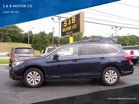 2018 Subaru Outback for sale at S & B MOTOR CO in Danville VA
