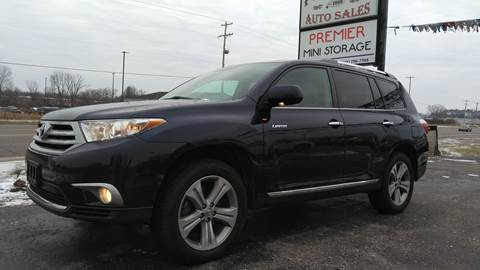 2012 Toyota Highlander for sale at Premier Auto Sales Inc. in Big Rapids MI