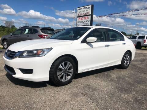 2013 Honda Accord for sale at Premier Auto Sales Inc. in Big Rapids MI