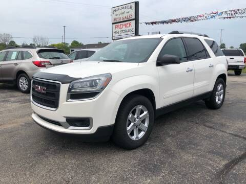 2014 GMC Acadia for sale at Premier Auto Sales Inc. in Big Rapids MI