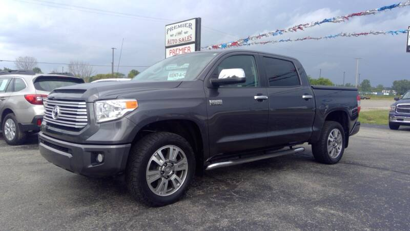 2017 Toyota Tundra for sale at Premier Auto Sales Inc. in Big Rapids MI