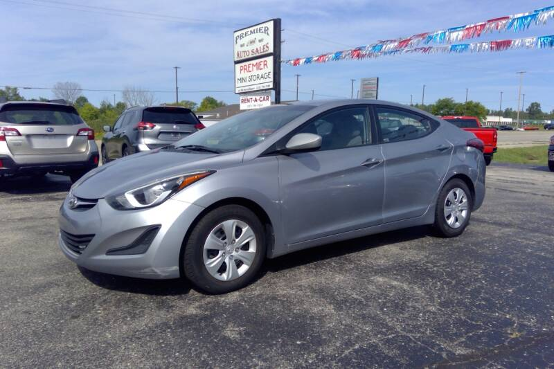 2016 Hyundai Elantra for sale at Premier Auto Sales Inc. in Big Rapids MI