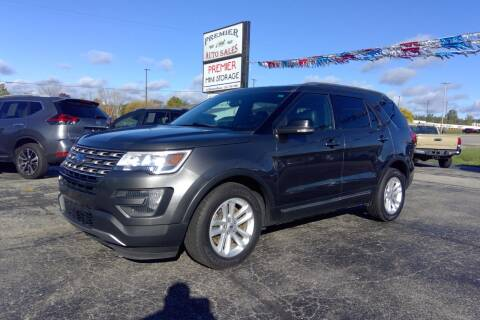 2016 Ford Explorer for sale at Premier Auto Sales Inc. in Big Rapids MI