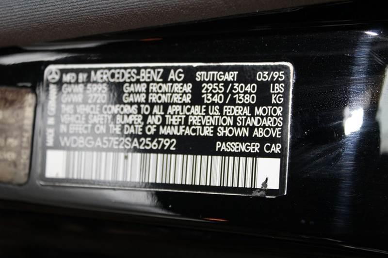 1995 Mercedes-Benz S-Class S 600 4dr Sedan - Sarasota FL