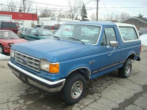 1988 Ford Bronco for sale at Bob Fox Auto Sales in Port Huron MI