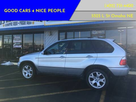 2001 BMW X5 for sale at Good Cars 4 Nice People in Omaha NE