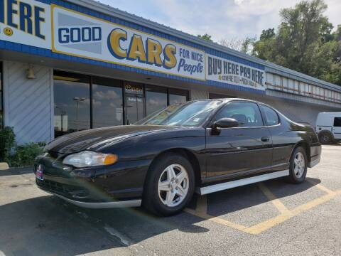 2001 Chevrolet Monte Carlo for sale at Good Cars 4 Nice People in Omaha NE