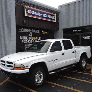2000 Dodge Dakota for sale at Good Cars 4 Nice People in Omaha NE