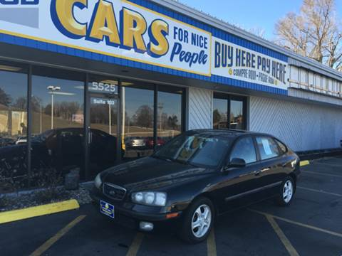 2002 Hyundai Elantra for sale at Good Cars 4 Nice People in Omaha NE