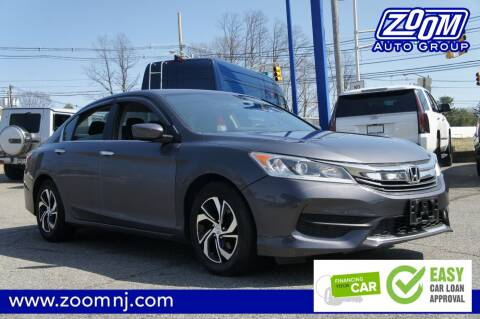 2016 Honda Accord LX for sale at Zoom Auto Group in Parsippany NJ