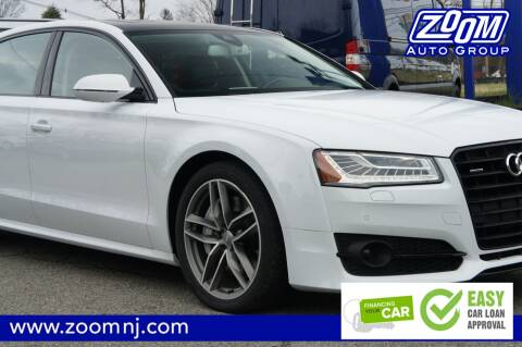 2017 Audi A8 L 4.0T quattro Sport for sale at Zoom Auto Group in Parsippany NJ