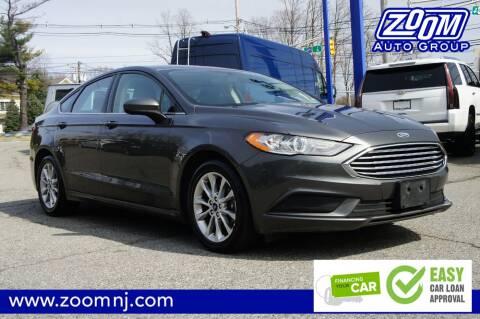 2017 Ford Fusion SE for sale at Zoom Auto Group in Parsippany NJ