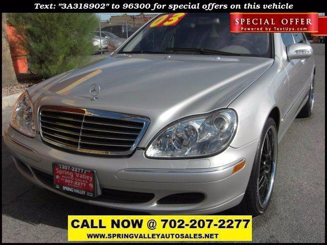Used Cars in Las Vegas 2003 Mercedes Benz S-Class