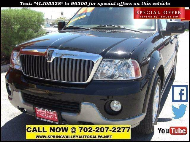 Used Cars in Las Vegas 2004 Lincoln Navigator