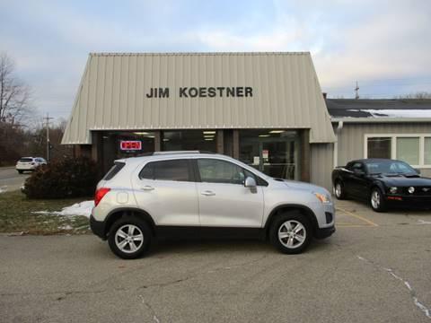 2016 Chevrolet Trax for sale at JIM KOESTNER INC in Plainwell MI