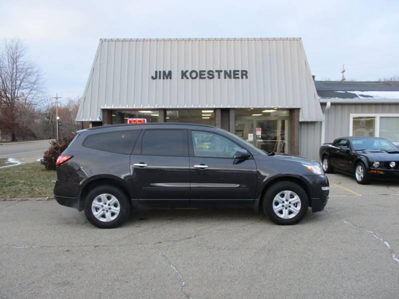 2017 Chevrolet Traverse for sale at JIM KOESTNER INC in Plainwell MI