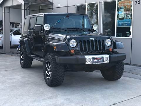 2010 Jeep Wrangler Unlimited for sale in Tacoma, WA