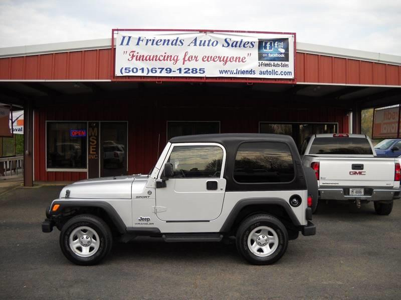 2006 Jeep Wrangler For Sale At 2 Friends Auto Sales In Greenbrier AR