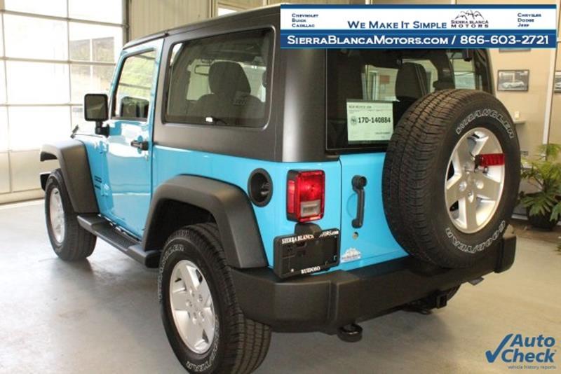 2017 Jeep Wrangler 4x4 Sport 2dr SUV - Ruidoso NM