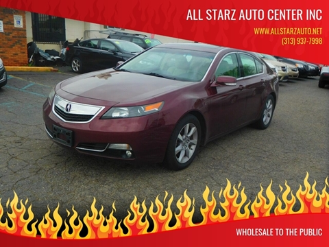 2013 Acura TL for sale at All Starz Auto Center Inc in Redford MI