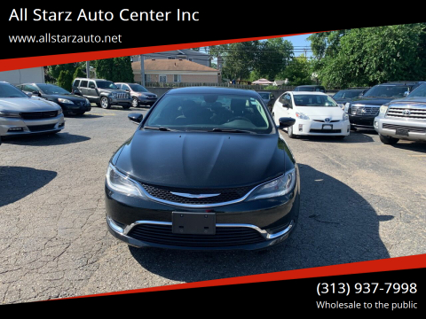 2016 Chrysler 200 for sale at All Starz Auto Center Inc in Redford MI