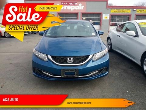 2014 Honda Civic for sale at A&A AUTO in Fairhaven MA