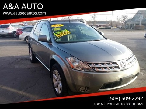 2007 Nissan Murano for sale at A&A AUTO in Fairhaven MA