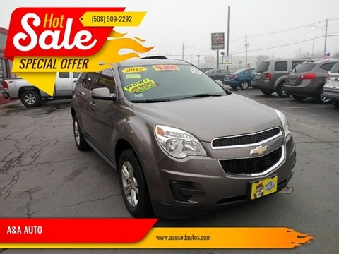 2012 Chevrolet Equinox for sale at A&A AUTO in Fairhaven MA