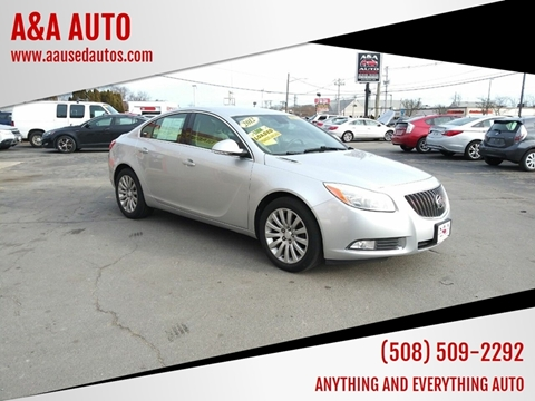 2012 Buick Regal for sale at A&A AUTO in Fairhaven MA