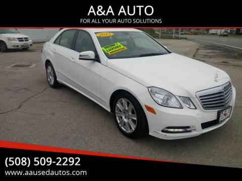 2013 Mercedes-Benz E-Class for sale at A&A AUTO in Fairhaven MA