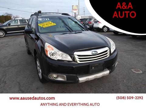 2011 Subaru Outback for sale at A&A AUTO in Fairhaven MA
