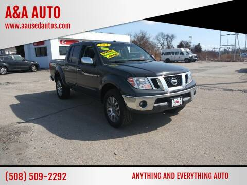 2013 Nissan Frontier for sale at A&A AUTO in Fairhaven MA