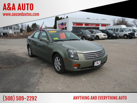 2005 Cadillac CTS for sale at A&A AUTO in Fairhaven MA