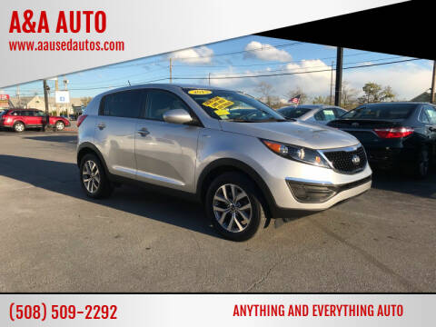 2015 Kia Sportage for sale at A&A AUTO in Fairhaven MA