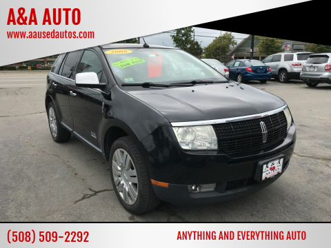 2008 Lincoln MKX for sale at A&A AUTO in Fairhaven MA