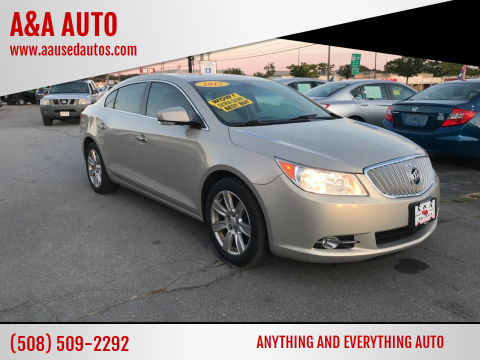 2012 Buick LaCrosse for sale at A&A AUTO in Fairhaven MA