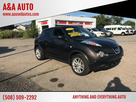 2013 Nissan JUKE for sale at A&A AUTO in Fairhaven MA