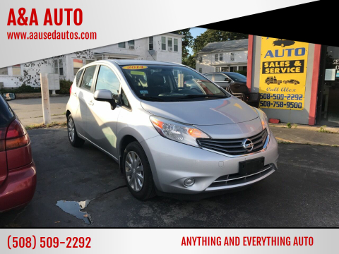 2014 Nissan Versa Note for sale at A&A AUTO in Fairhaven MA