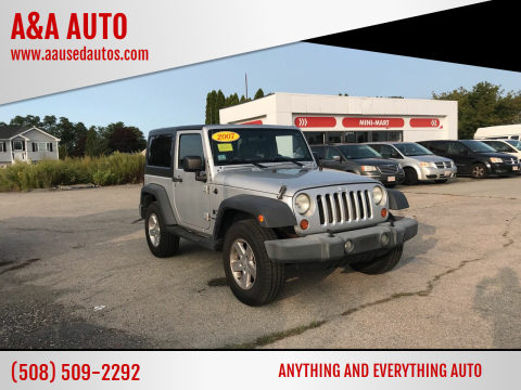 2007 Jeep Wrangler for sale at A&A AUTO in Fairhaven MA